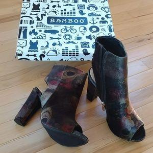 NIB (Bamboo) Open toed booties